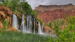 Slightly hidden waterfalls from where I drank coffee waterfall